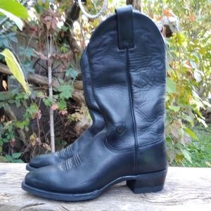Ariat ATS 18001 Black Leather Western Cowboy Boots